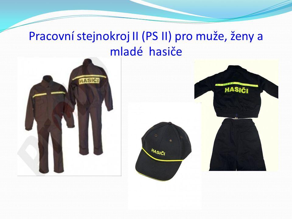 Sportovní stejnokroj pro mladé hasiče a dorostence Sportovní tepláková nebo šusťáková souprava – jednotná Teplákové nebo šusťákové kalhoty - jednotné Tričko šedé barvy s krátkým nebo dlouhým rukávem Obuv sportovní šněrovací, jednotná