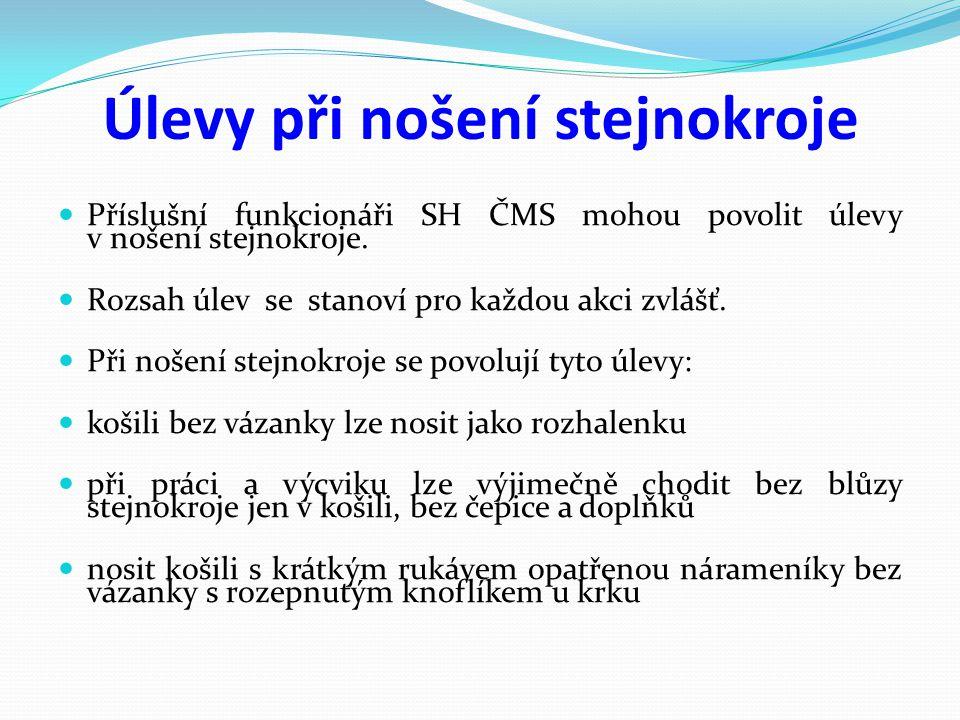 6.Označení funkcionářů KSH 7.Označení funkcionářů SH ČMS