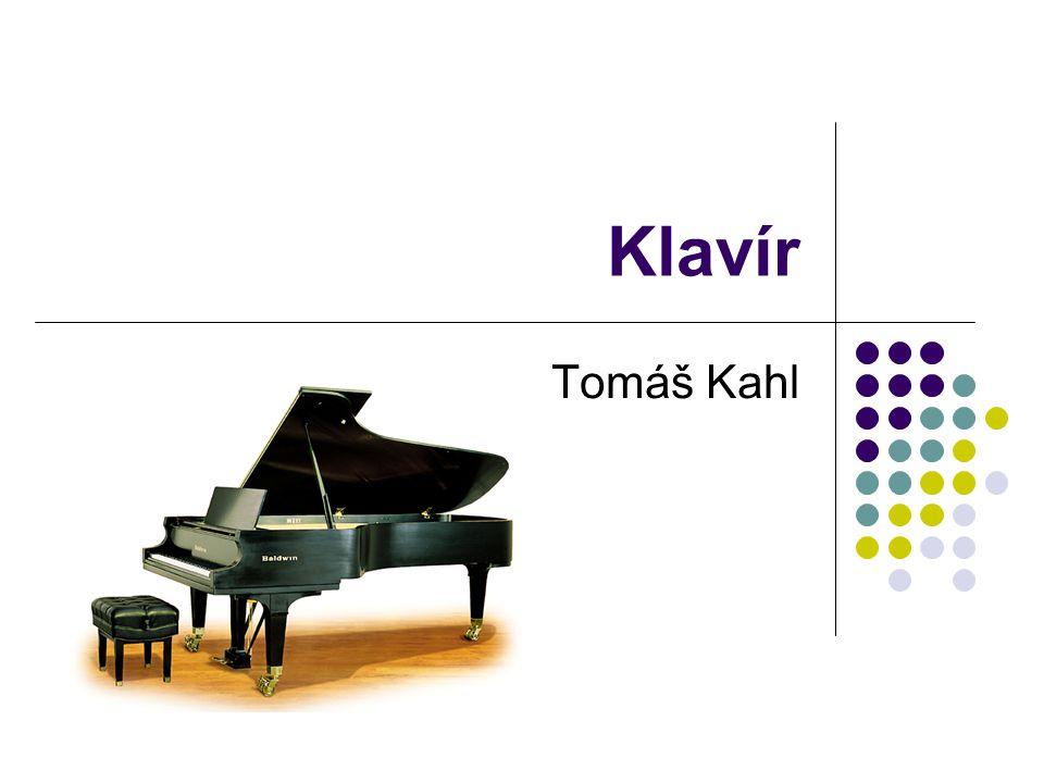 Klavír Tomáš Kahl
