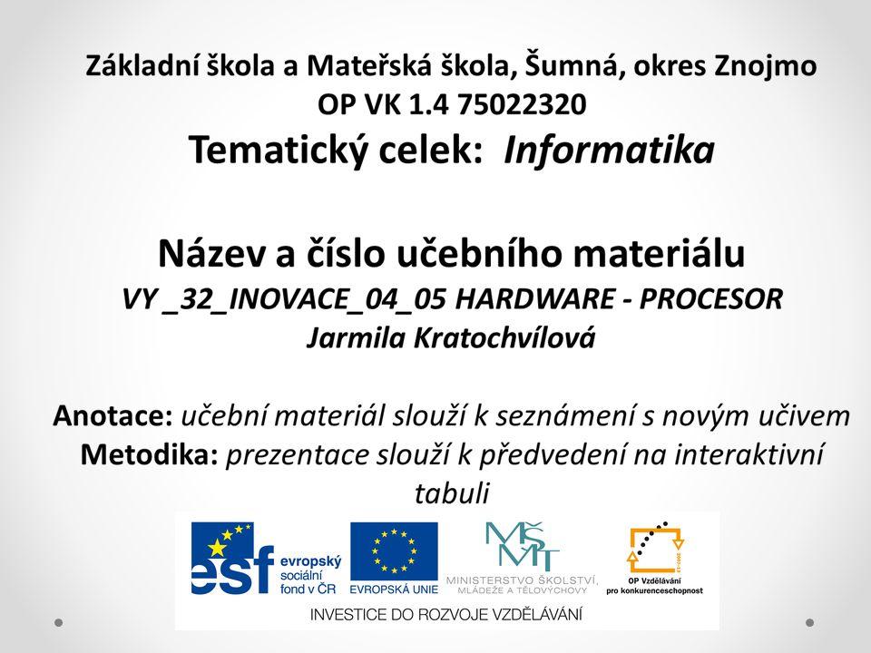 HARDWARE hardware tvoří součásti počítače – je to fyzické vybavení umístěné buď uvnitř / interní/, nebo připojené z venku / externí/ hardware jsou součástky počítače bez nichž by nebyl schopen pracovat