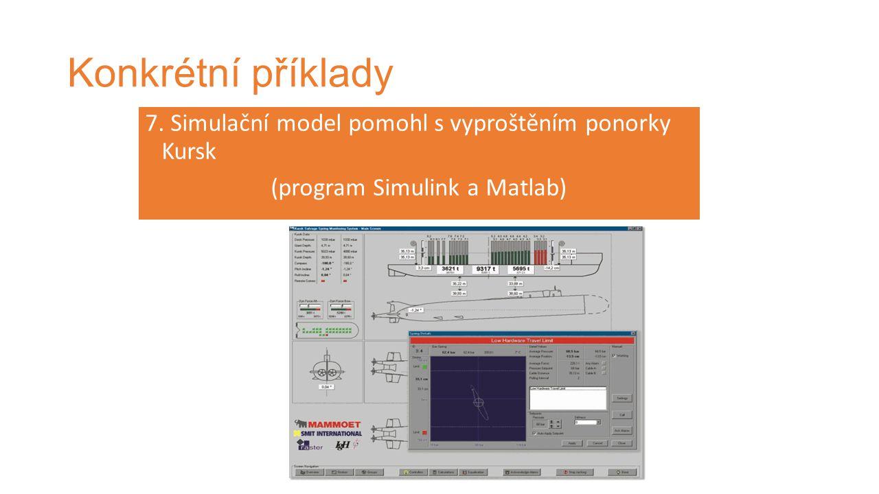 Konkrétní příklady 7. Simulační model pomohl s vyproštěním ponorky Kursk (program Simulink a Matlab)