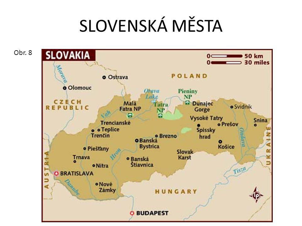 SLOVENSKÁ MĚSTA Obr. 8