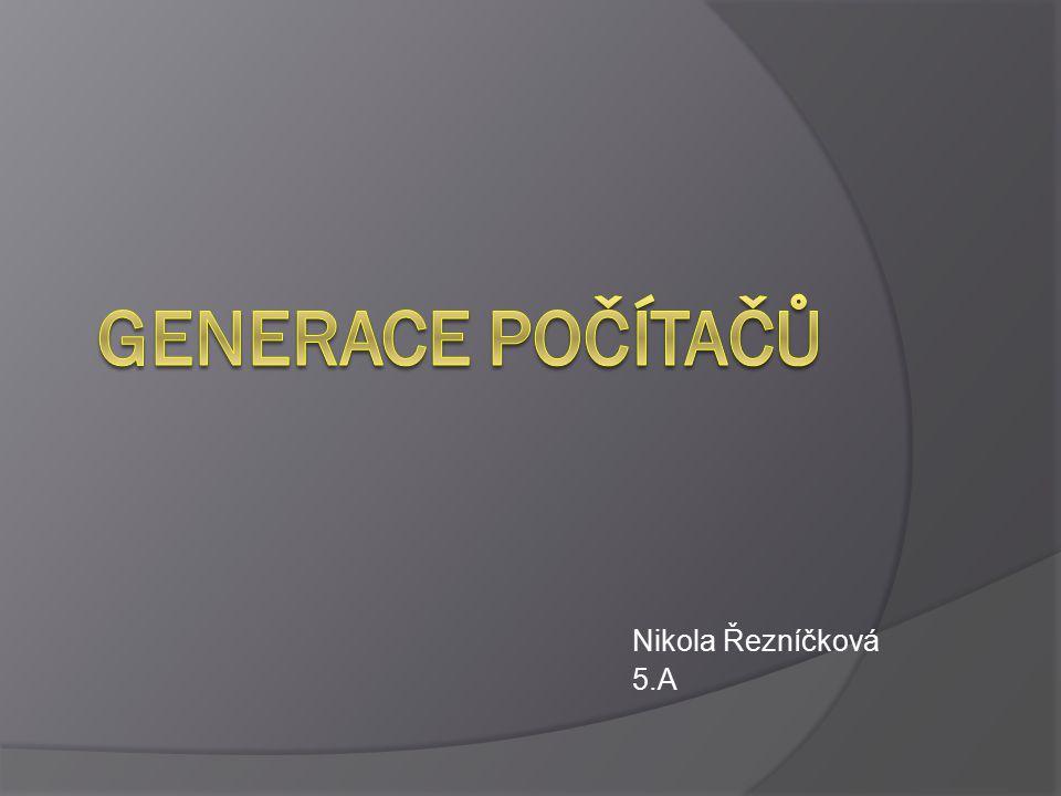 Základní rozdělení Nultá generace První generace Druhá generace Třetí generace Čtvrtá generace