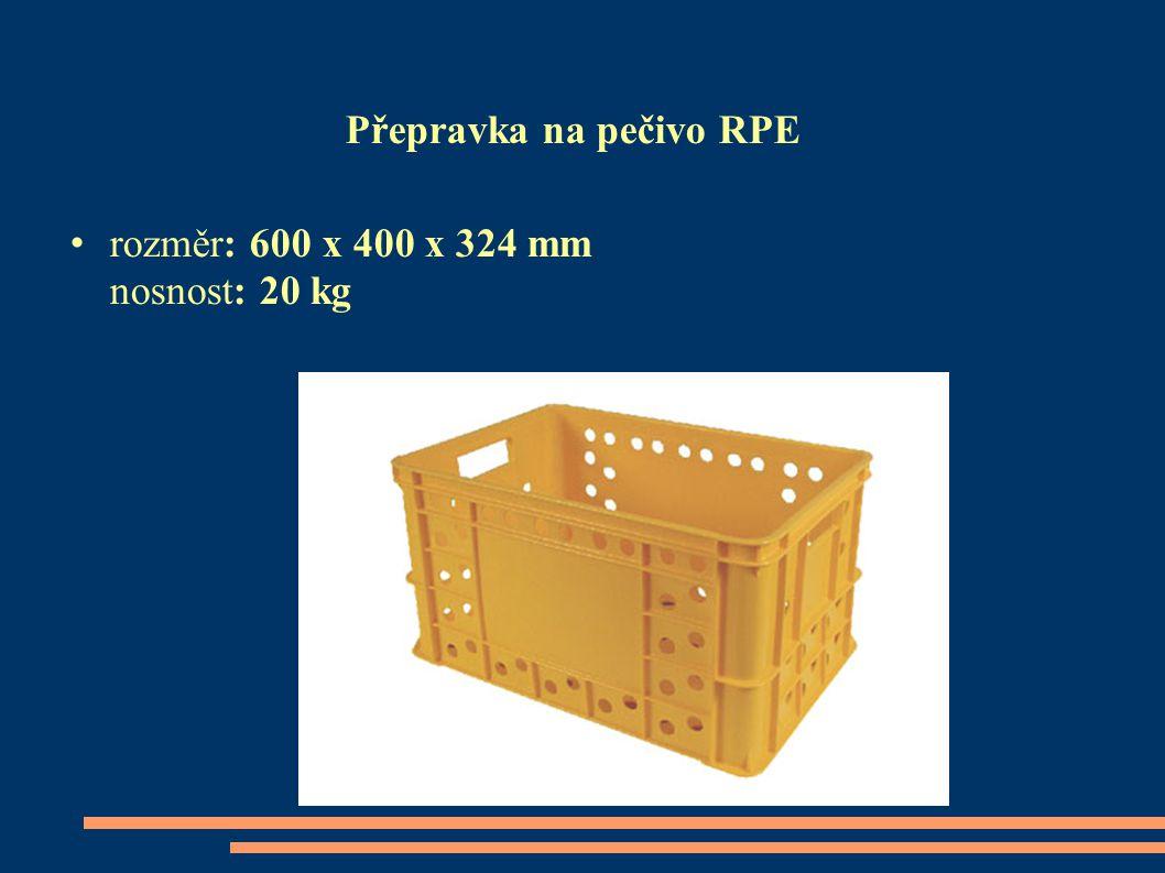 Přepravka na pečivo RPE rozměr: 600 x 400 x 324 mm nosnost: 20 kg