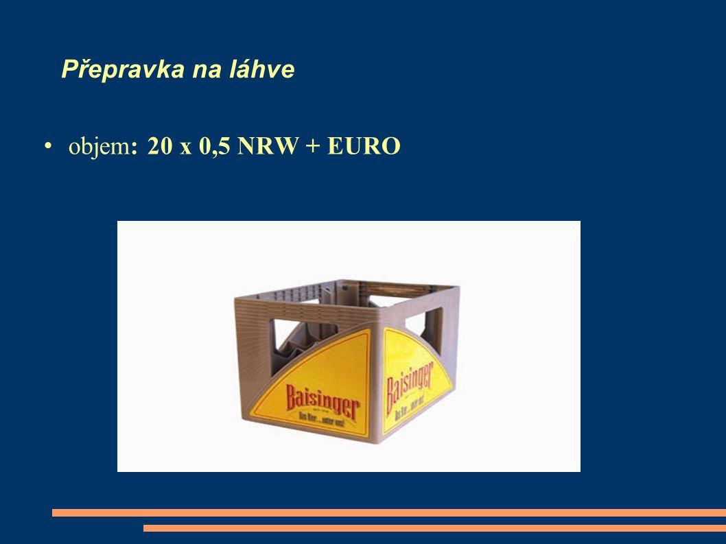 Přepravka na láhve objem: 20 x 0,5 NRW + EURO
