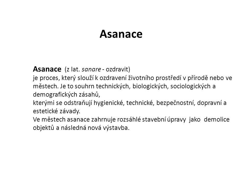Asanace (z lat.