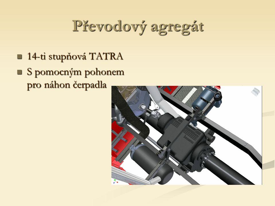 Převodový agregát 14-ti stupňová TATRA 14-ti stupňová TATRA S pomocným pohonem pro náhon čerpadla S pomocným pohonem pro náhon čerpadla
