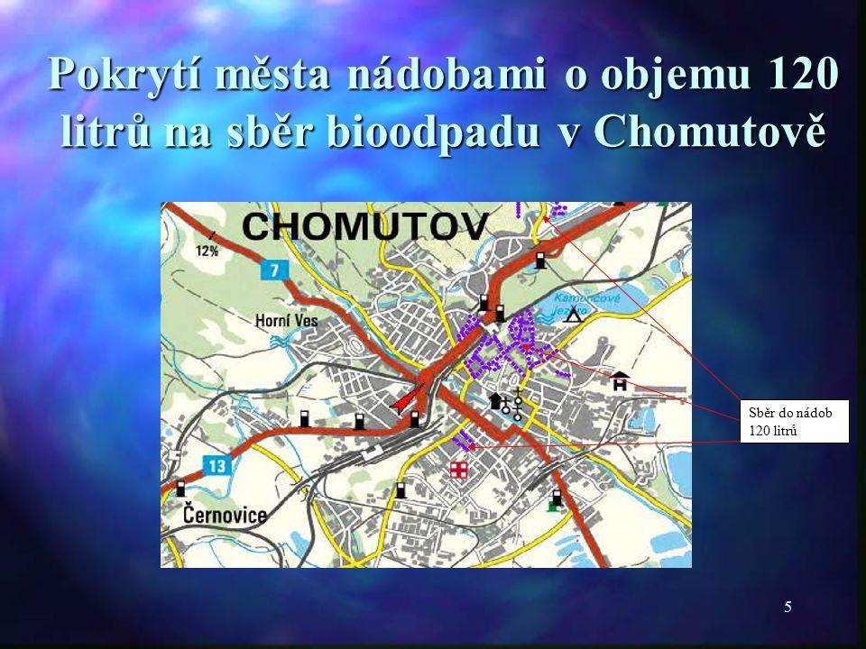 5 Sběr do nádob 120 litrů Pokrytí města nádobami o objemu 120 litrů na sběr bioodpadu v Chomutově