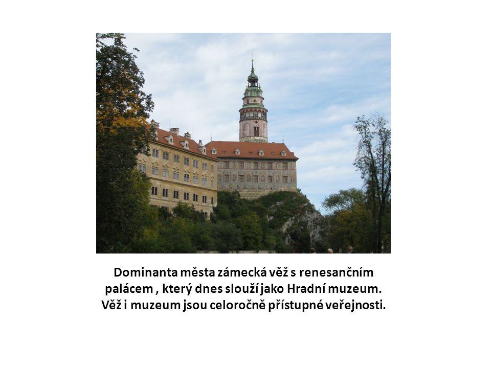 Dominanta města zámecká věž s renesančním palácem, který dnes slouží jako Hradní muzeum.