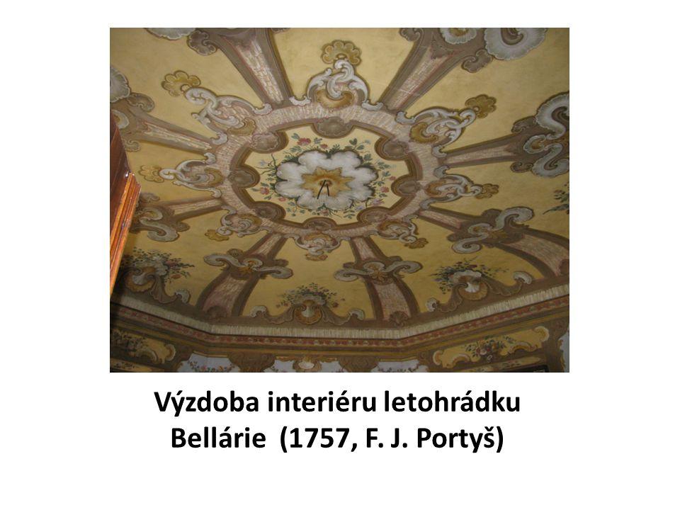 Výzdoba interiéru letohrádku Bellárie (1757, F. J. Portyš)