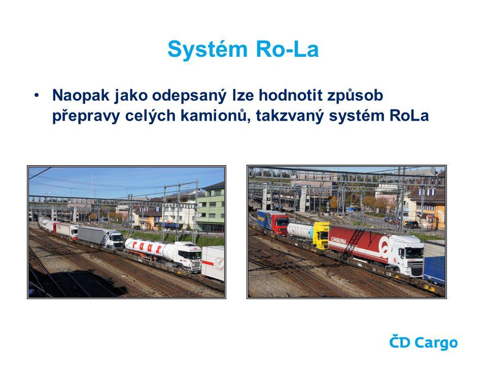 Systém Ro-La Naopak jako odepsaný lze hodnotit způsob přepravy celých kamionů, takzvaný systém RoLa