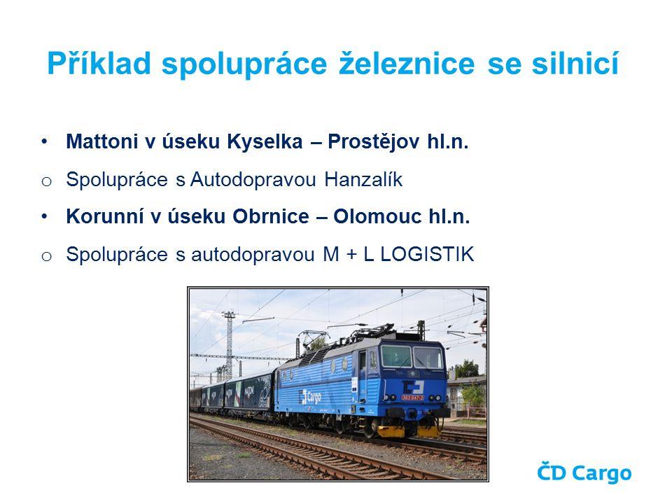 Příklad spolupráce železnice se silnicí Mattoni v úseku Kyselka – Prostějov hl.n.