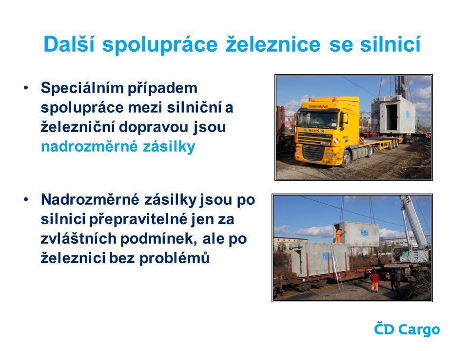 Závěr Obecně lze říci, že železnice může v moderním distribučním řetězci nabídnout schopnost přepravy většího objemu zboží na delší vzdálenost, optimálně tzv.