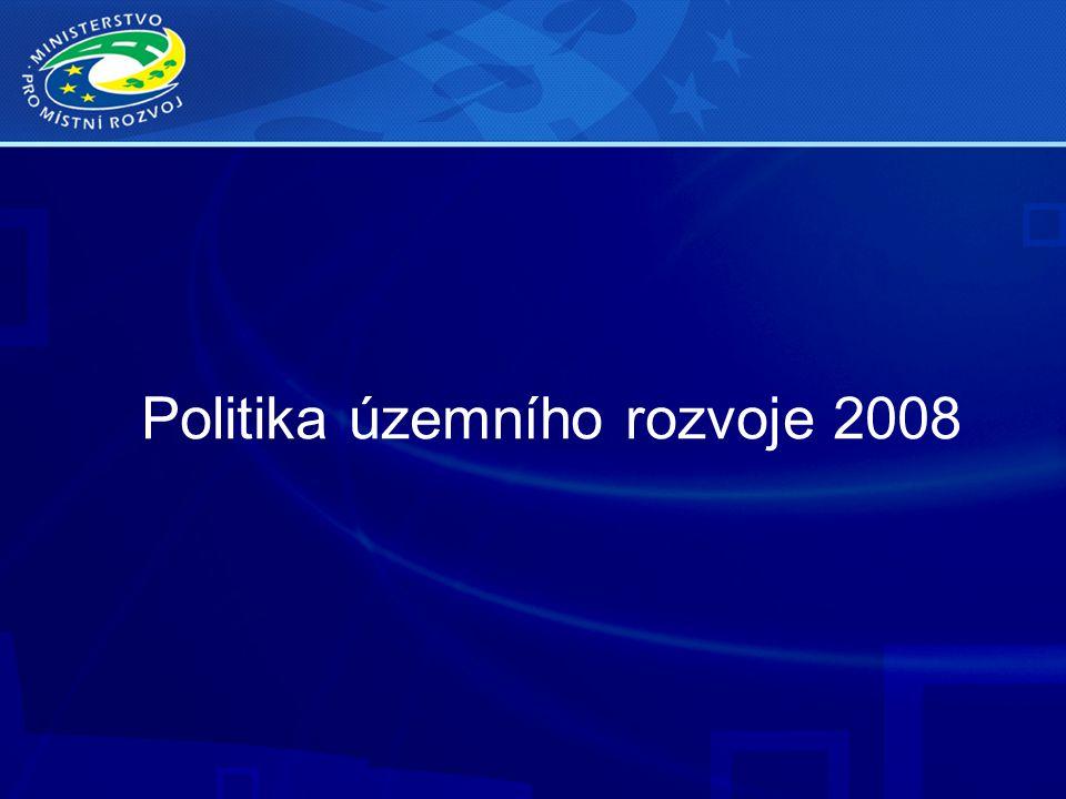 Politika územního rozvoje 2008
