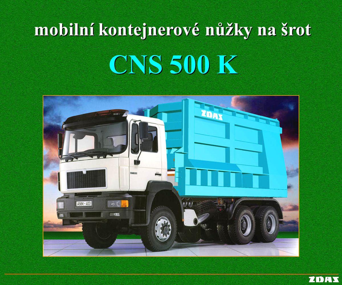 mobilní kontejnerové nůžky na šrot mobilní kontejnerové nůžky na šrot CNS 500 K
