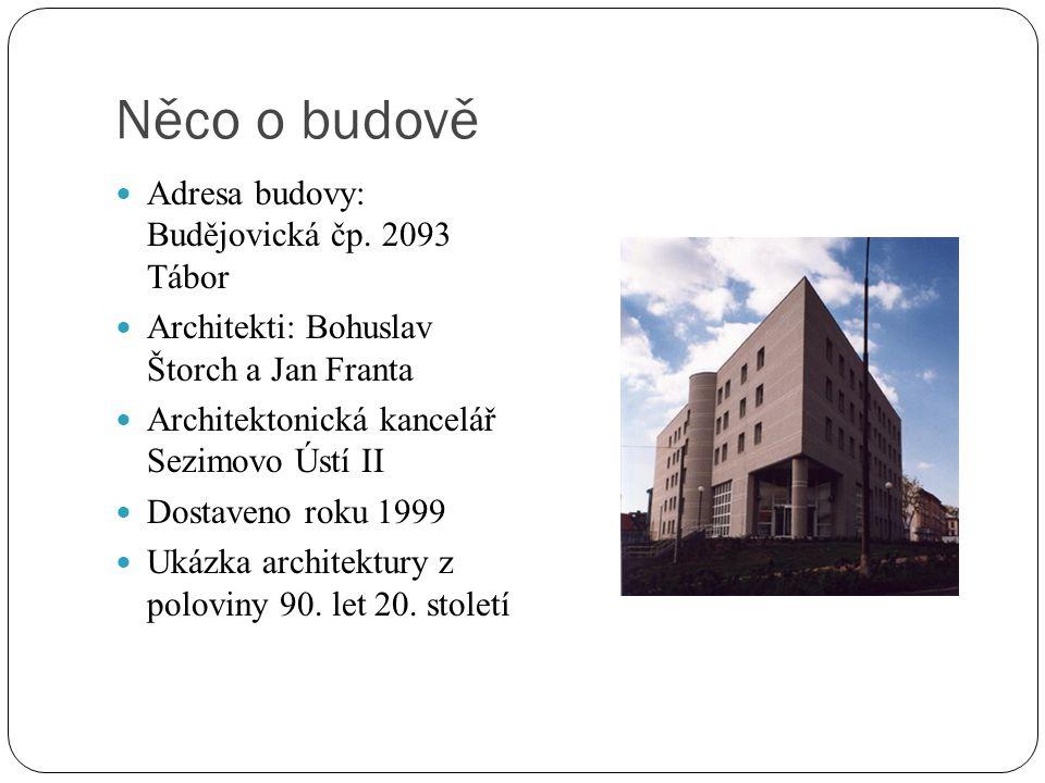 Něco o budově Adresa budovy: Budějovická čp.