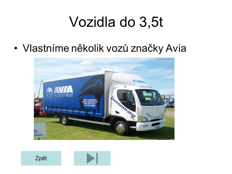 Vozidla do 3,5t Vlastníme několik vozů značky Avia Zpět