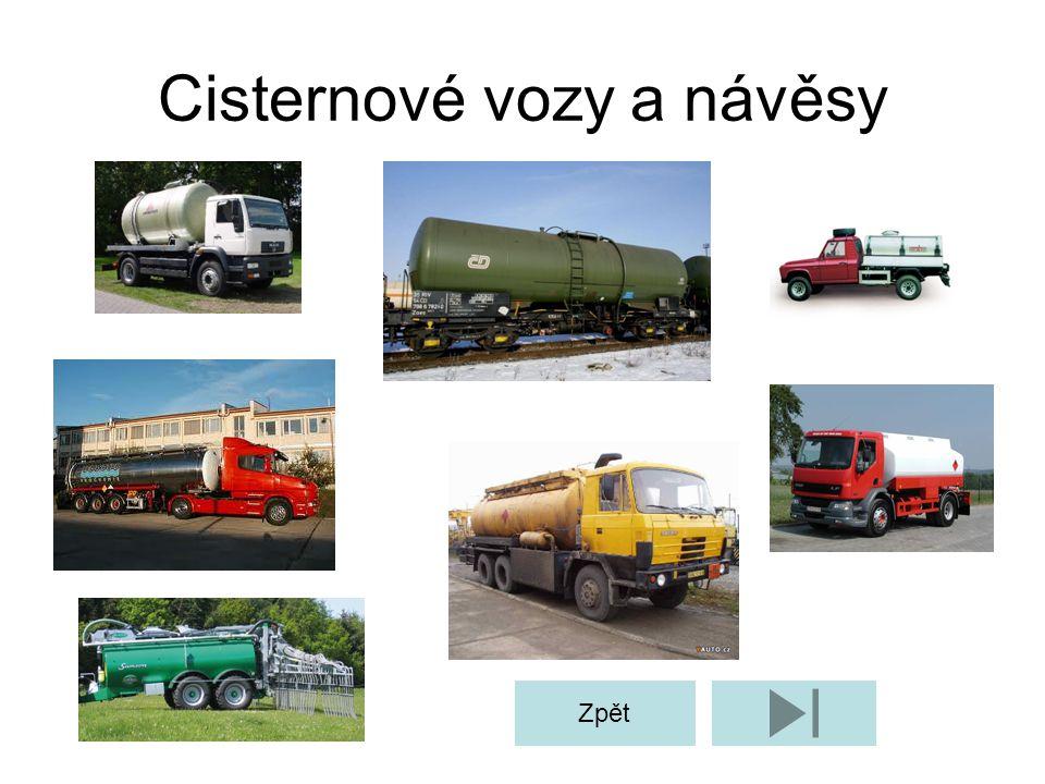Cisternové vozy a návěsy Zpět
