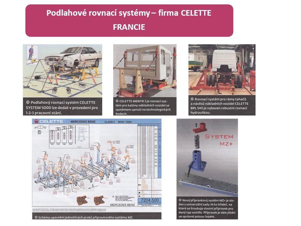 Podlahové rovnací systémy – firma CELETTE FRANCIE