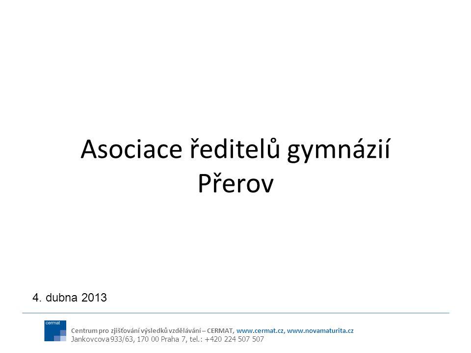Centrum pro zjišťování výsledků vzdělávání – CERMAT, www.cermat.cz, www.novamaturita.cz Jankovcova 933/63, 170 00 Praha 7, tel.: +420 224 507 507 Asoc