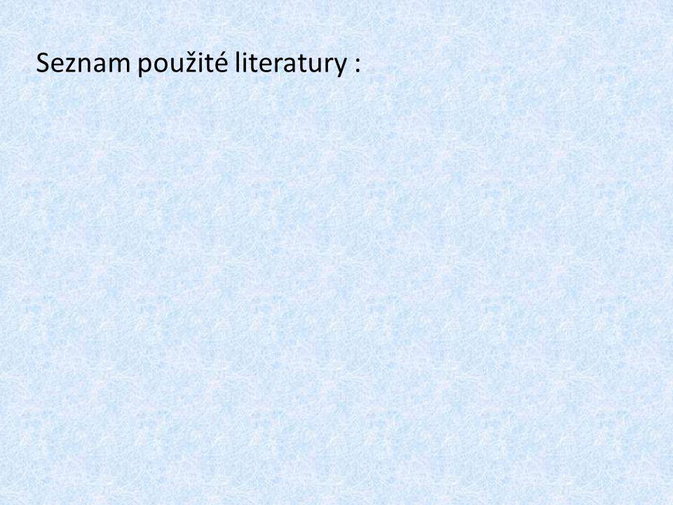 Seznam použité literatury :
