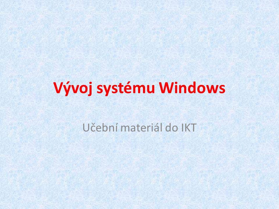 První grafické rozhraní MS-Windows 1 - 1985 Windows 2 - 1987