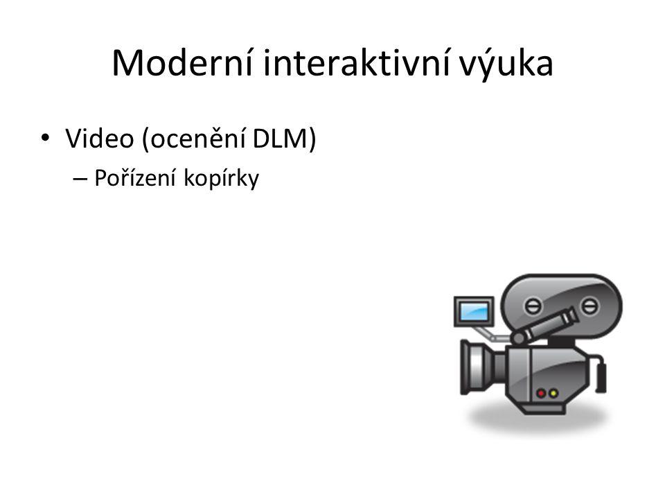 Moderní interaktivní výuka Video (ocenění DLM) – Pořízení kopírky