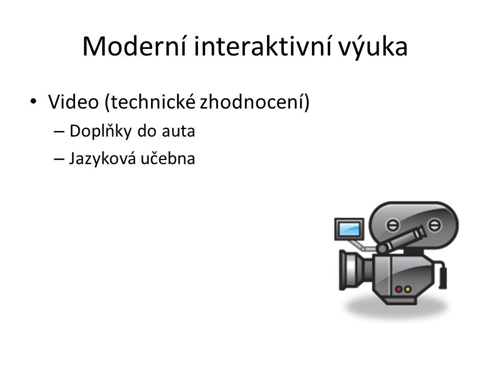 Moderní interaktivní výuka Video (technické zhodnocení) – Doplňky do auta – Jazyková učebna