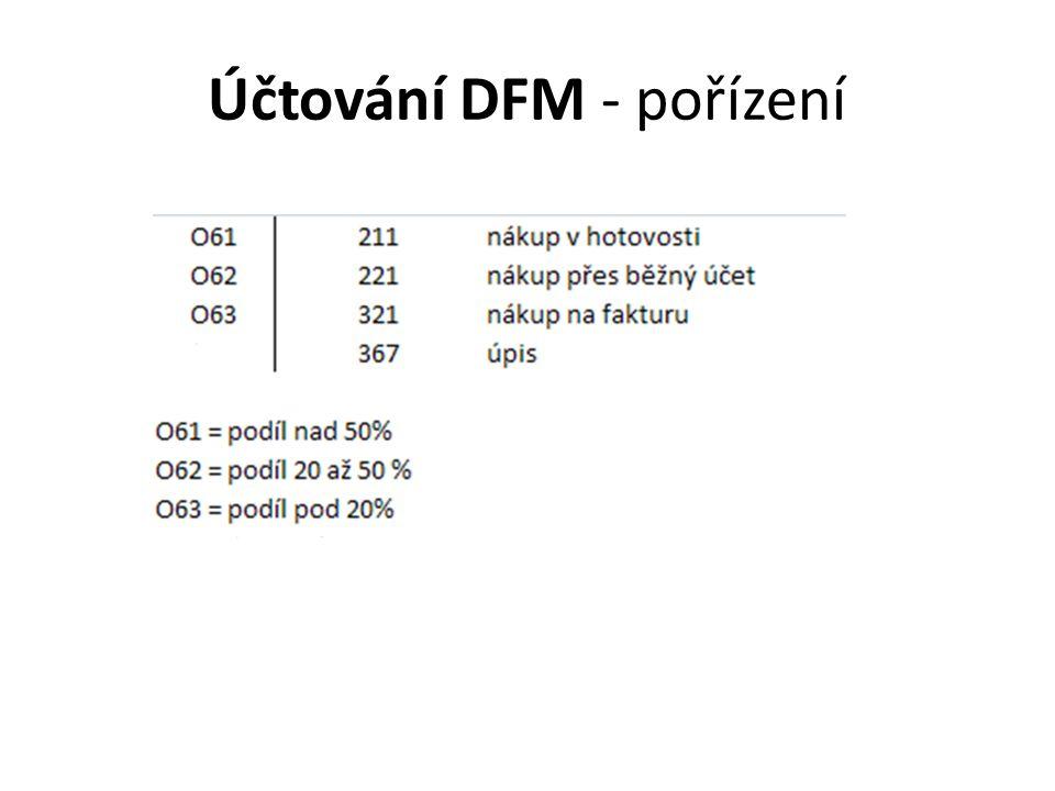 Účtování DFM - pořízení