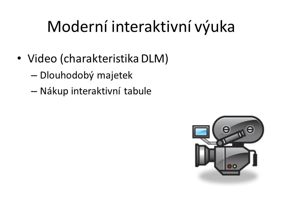 Moderní interaktivní výuka Video (charakteristika DLM) – Dlouhodobý majetek – Nákup interaktivní tabule