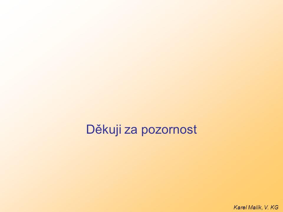 Děkuji za pozornost Karel Malík, V. KG