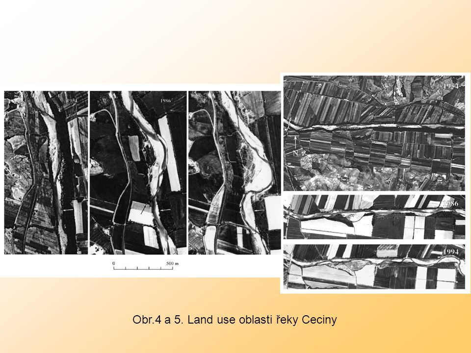 Obr.4 a 5. Land use oblasti řeky Ceciny