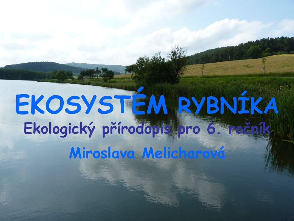 EKOSYSTÉM RYBNÍKA Ekologický přírodopis pro 6. ročník Miroslava Melicharová