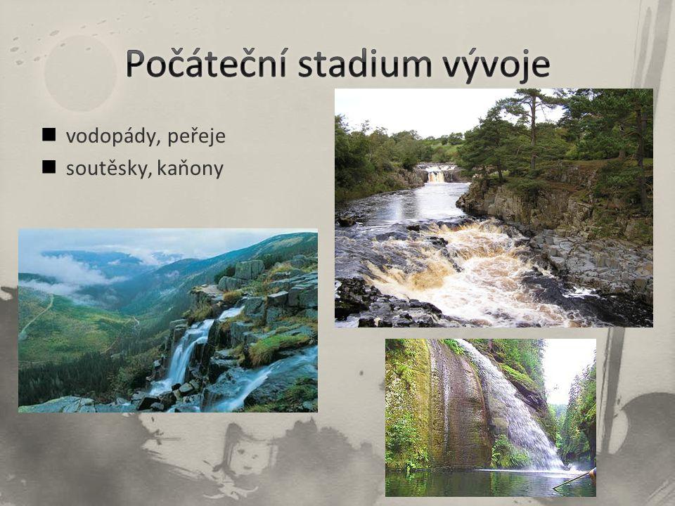 vodopády, peřeje soutěsky, kaňony
