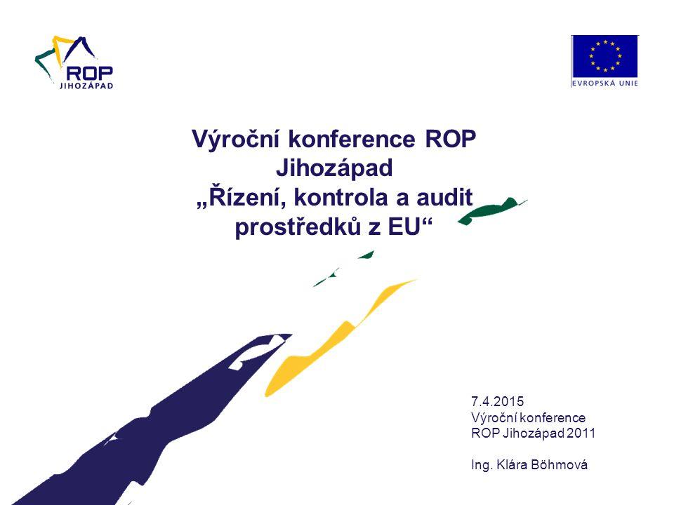 www.rr-jihozapad.cz Obsah: 1.Výsledky ROP Jihozápad v roce 2011 2.
