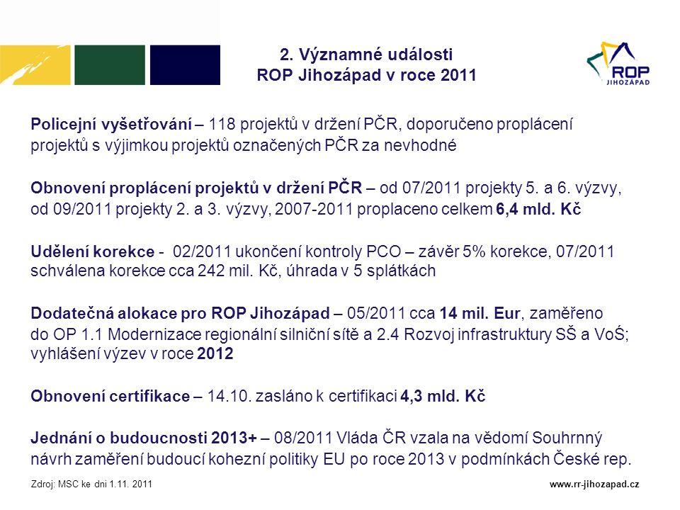 www.rr-jihozapad.cz Výzvy v roce 2011 – schválené projekty 13.