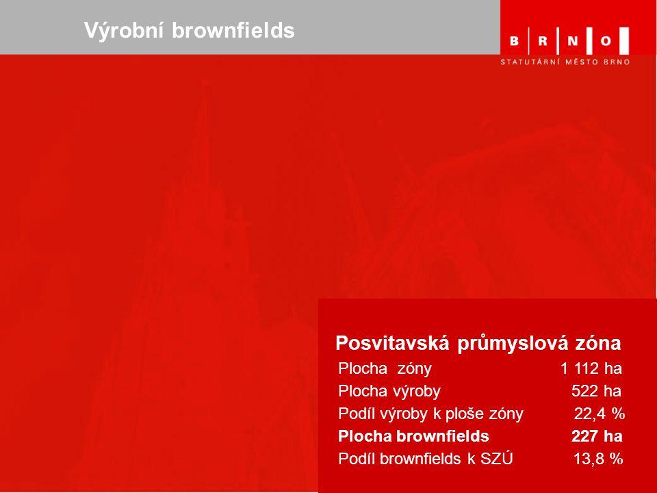 Seminář - leden 2006, Praha Výrobní brownfields Posvitavská průmyslová zóna Plocha zóny 1 112 ha Plocha výroby 522 ha Podíl výroby k ploše zóny 22,4 %