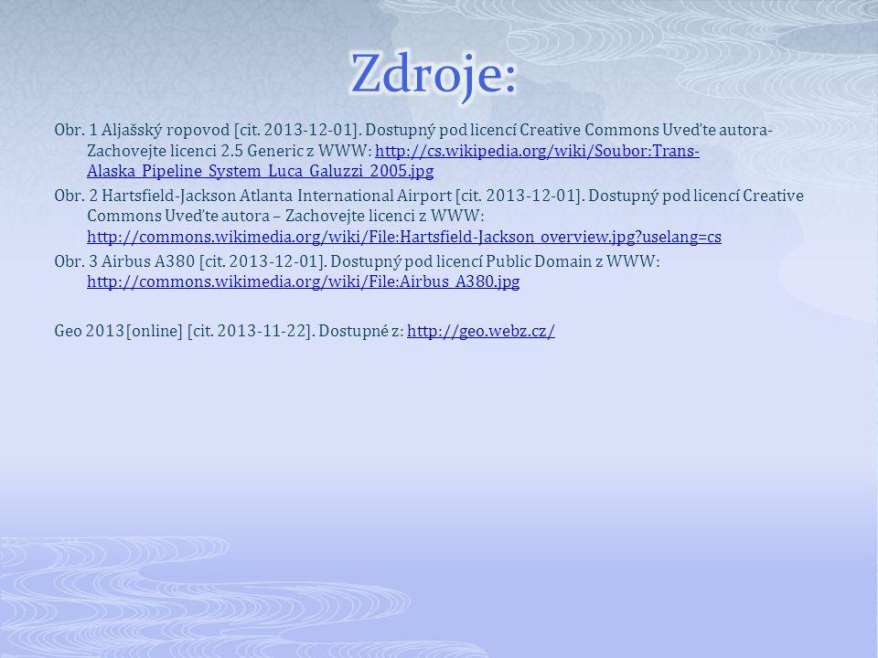 Obr. 1 Aljašský ropovod [cit. 2013-12-01]. Dostupný pod licencí Creative Commons Uveďte autora- Zachovejte licenci 2.5 Generic z WWW: http://cs.wikipe