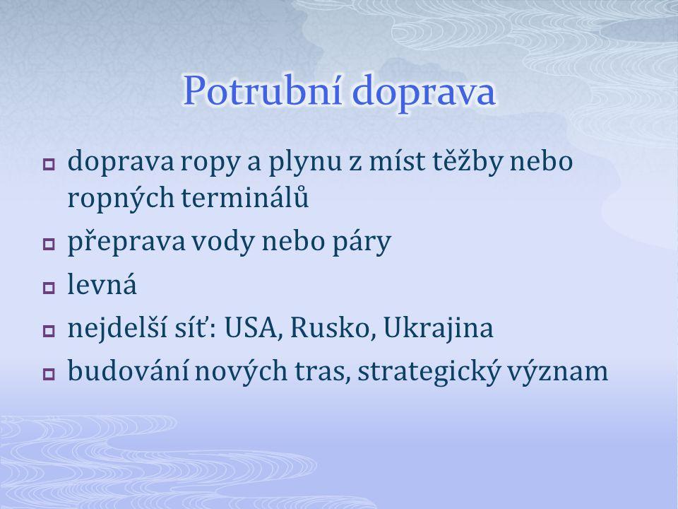 Spojte názvy ropovodů a plynovodů s patřičnou trasou Ropovod Družba (jižní větev) Plynovod Nord Stream Plynovod Blue Stream Ropovod Ingolstadt Ropovod Baku – Tbilisi – Ceyhan Aljašský ropovod Ázerbajdžán – Gruzie - Turecko Rusko – dno Baltského moře – Německo Rusko – Slovensko - Litvínov břeh Sev.