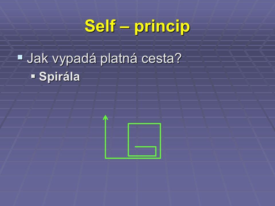 Self – princip  Jak vypadá platná cesta  Spirála