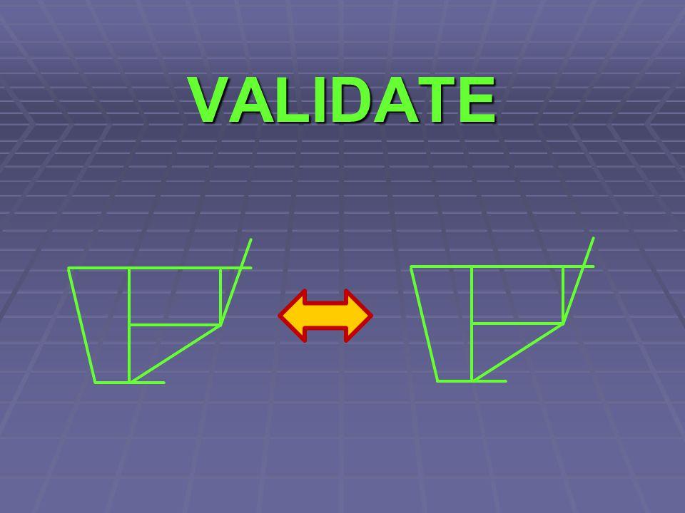 VALIDATE