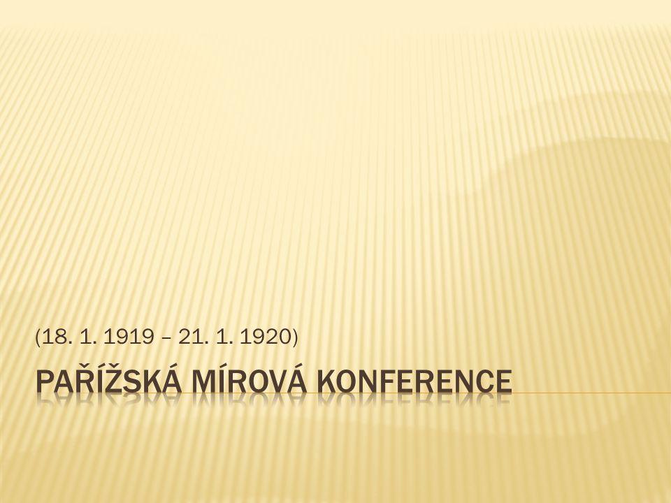 (18. 1. 1919 – 21. 1. 1920)