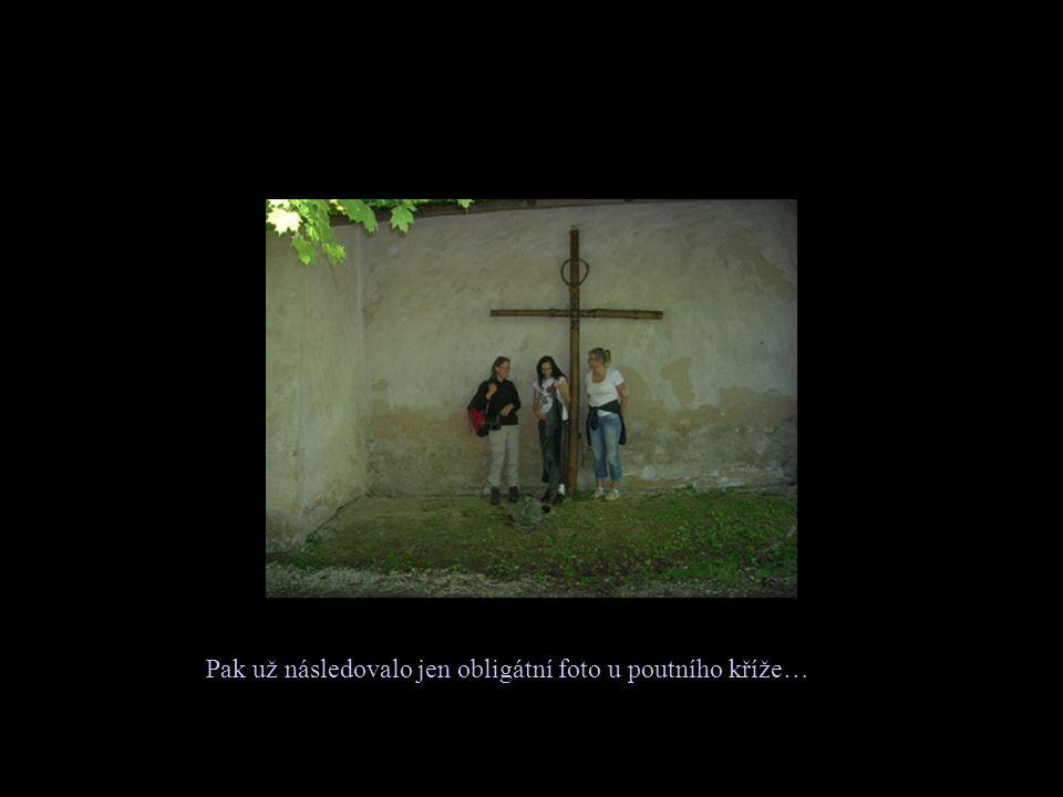 Pak už následovalo jen obligátní foto u poutního kříže…