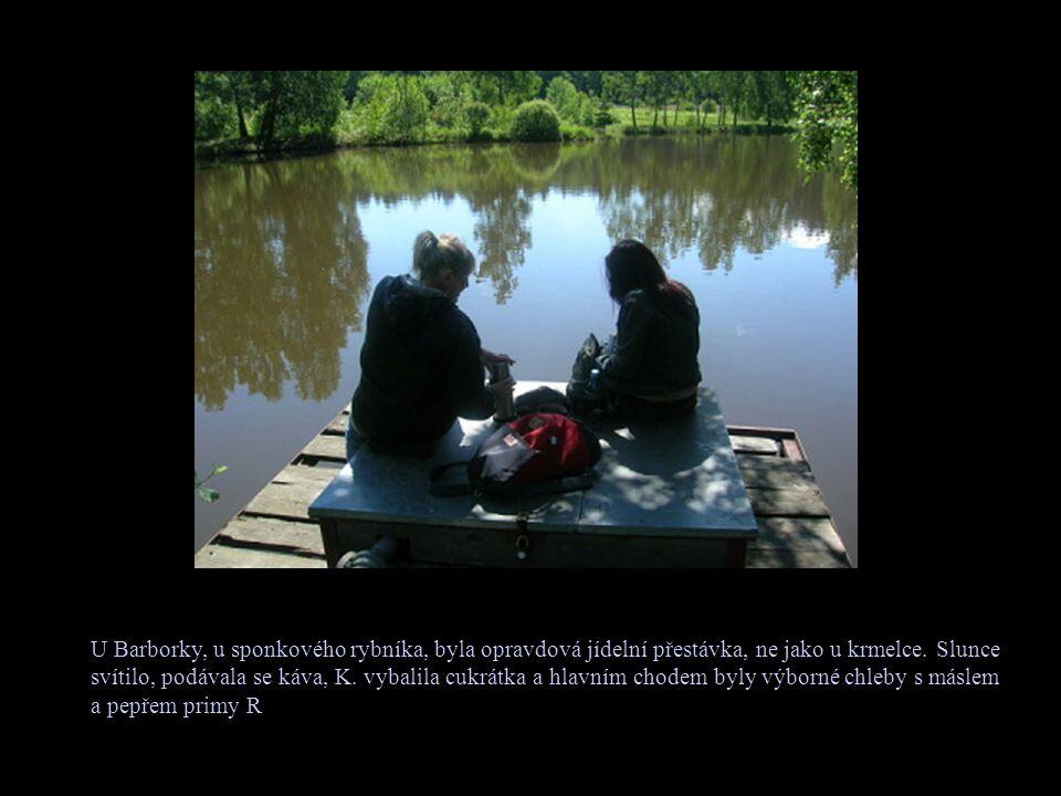 U Barborky, u sponkového rybníka, byla opravdová jídelní přestávka, ne jako u krmelce.