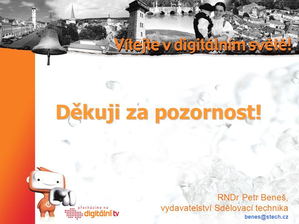Děkuji za pozornost! RNDr Petr Beneš, vydavatelství Sdělovací technika benes@stech.cz