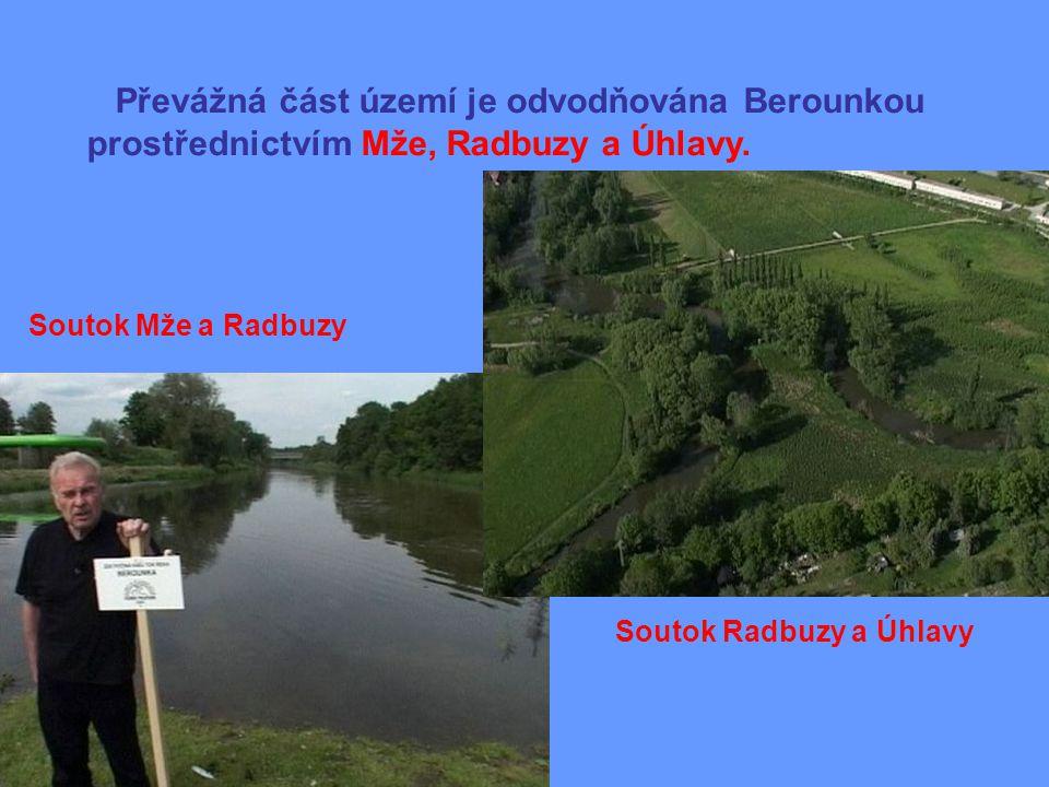 Převážná část území je odvodňována Berounkou prostřednictvím Mže, Radbuzy a Úhlavy.