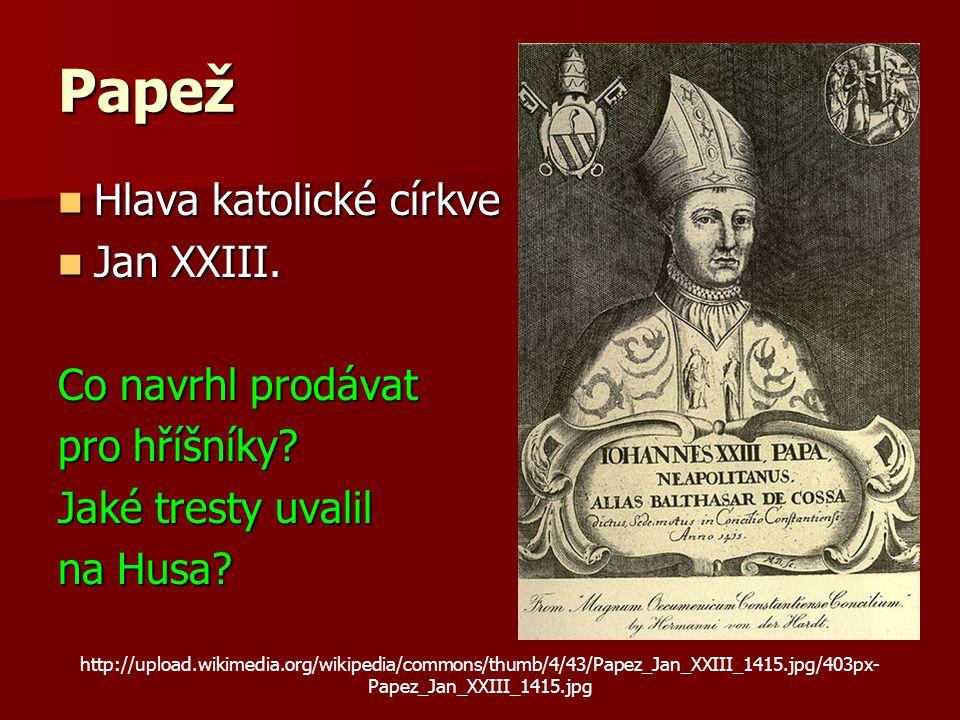 Papež Hlava katolické církve Hlava katolické církve Jan XXIII.