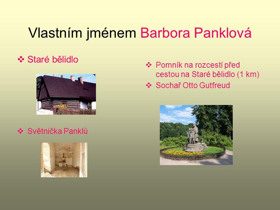  Narozena asi ve Vídni  Dětství na Starém bělidle v Ratibořicích ( východní Čechy)  Úly u Starého bělidla  Ke mlýnu