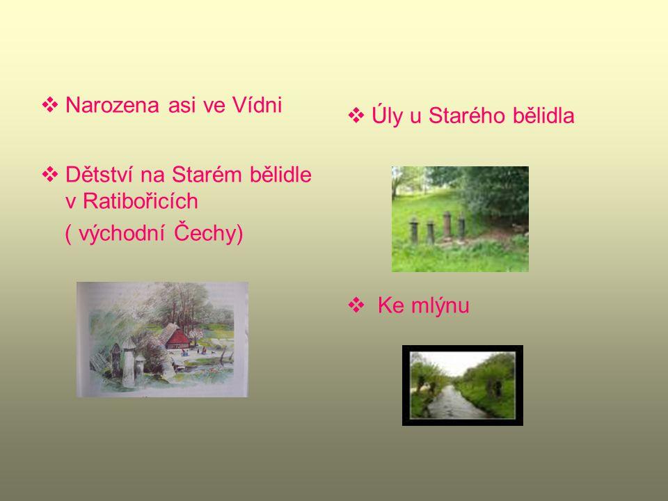 Rodina trvale ve službě na zámku v Ratibořicích ( kněžna Zaháňská)