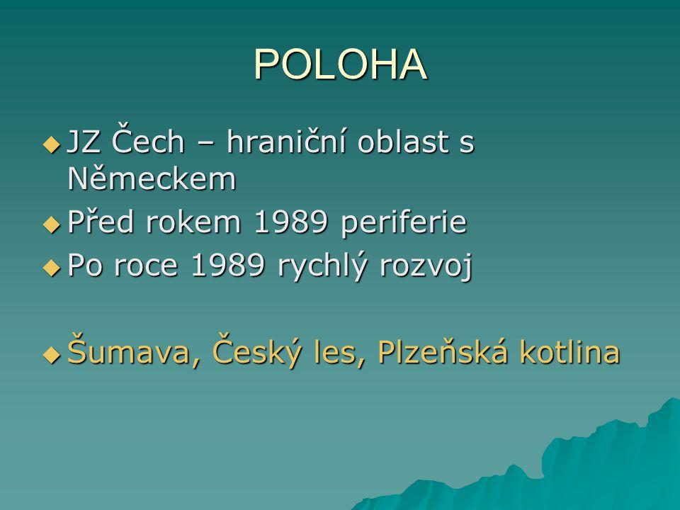 Plzeň Tachov Rokycany Klatovy Domažlice sever jih